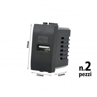 Ledlux 2 Pezzi Moduli Compatibile Bticino Living Light Caricatore Usb
