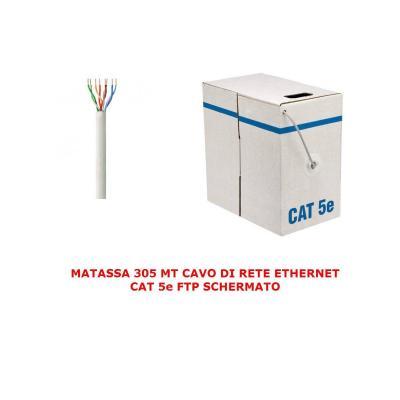 Matassa 305 Mt Metri Cavo Di Rete Ftp Cat 5e Lan Ethernet 5 E Internet Schermato