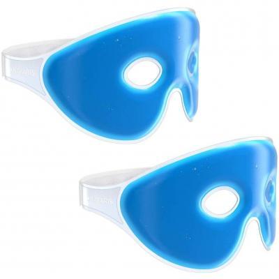 Navaris 2x Mascherina refrigerante occhi in gel