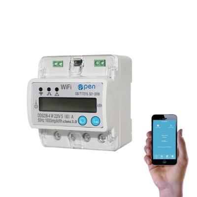 WIFI smart energy meter misuratori di corrente 5A~60A 110 V 230 V 50 HZ 60 HZ monofase Din rail over