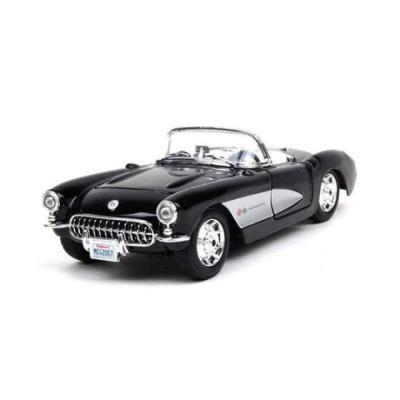 Gfld Modellini Auto 1:24 Modello Di Auto In Lega 1957 Chevrolet Corvette Convertibile Modello Di Auto Depoca